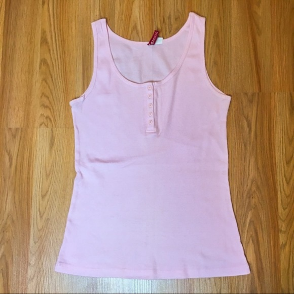 f14921a5bf3 H&M Tops | 210 Hm Pink Ribbed Tank Top Size 10 | Poshmark